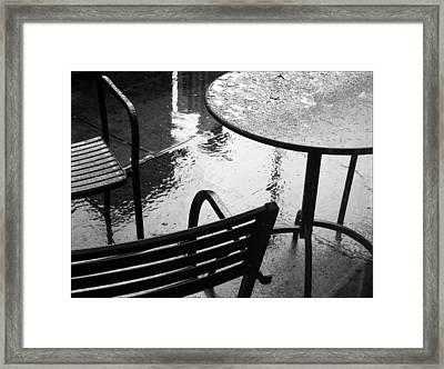 Sometimes It Rains Framed Print by Anne McDonald