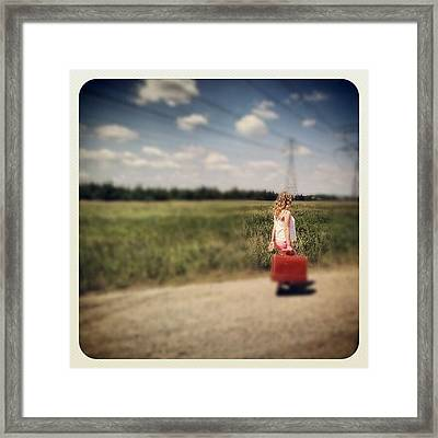 Sometimes It's Best To Take The Road Framed Print