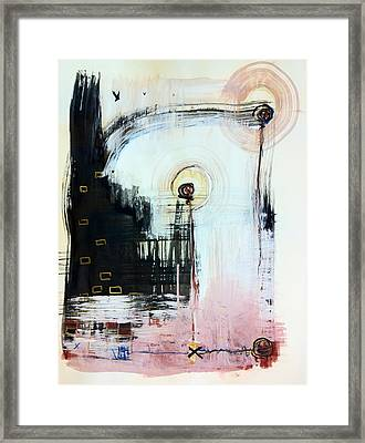 Somewhere Between Space And Time 5 Framed Print by Mark M  Mellon