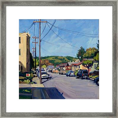 Somewhere In California Framed Print