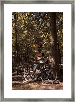 Somewhere In Time Framed Print by Dan Crosby