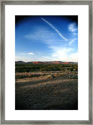 Framed Print featuring the photograph Somewhere Off The Interstate In New Mexico by Lon Casler Bixby