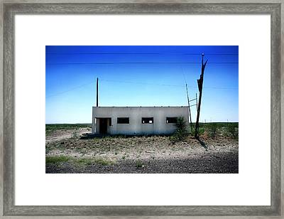 Framed Print featuring the photograph Somewhere On The Old Pecos Highway Number 1 by Lon Casler Bixby