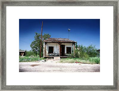 Framed Print featuring the photograph Somewhere On The Old Pecos Highway Number 3 by Lon Casler Bixby