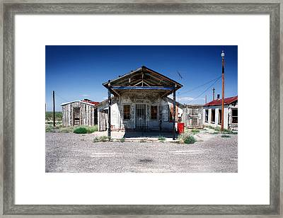 Framed Print featuring the photograph Somewhere On The Old Pecos Highway Number 4 by Lon Casler Bixby