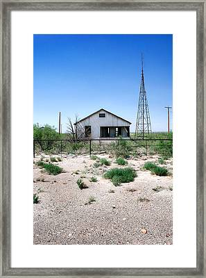 Framed Print featuring the photograph Somewhere On The Old Pecos Highway Number 5 by Lon Casler Bixby