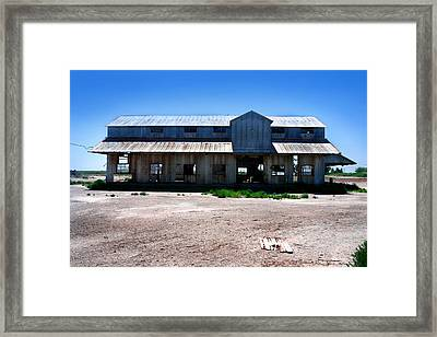 Framed Print featuring the photograph Somewhere On The Old Pecos Highway Number 6 by Lon Casler Bixby