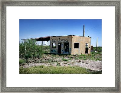 Framed Print featuring the photograph Somewhere On The Old Pecos Highway Number 7 by Lon Casler Bixby