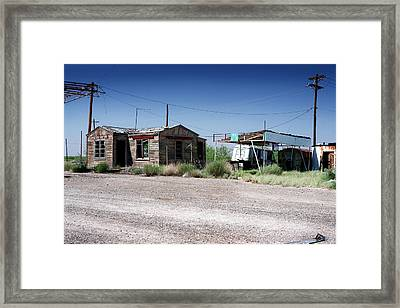 Framed Print featuring the photograph Somewhere On The Old Pecos Highway Number 8 by Lon Casler Bixby
