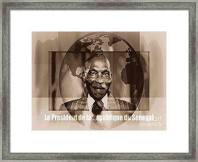 Son Excellence Maitre Abdoulaye Wade - Puissant Et Sage Framed Print by Fania Simon