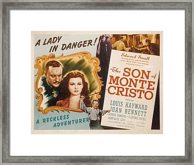 Son Of Monte Cristo, George Sanders Framed Print by Everett