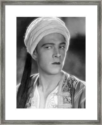 Son Of The Shiek, Rudolph Valentino Framed Print by Everett