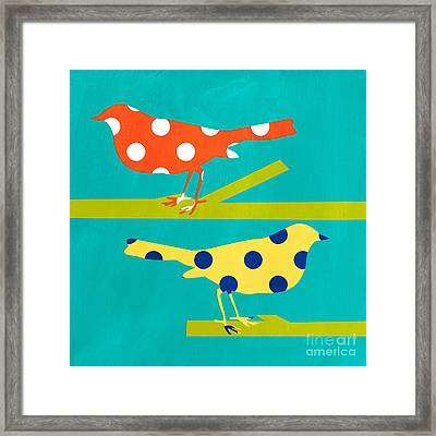 Song Birds Framed Print by Linda Woods
