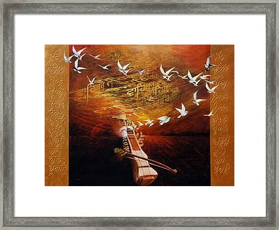Song Of The Sunset Framed Print by S Jaswant