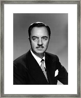 Song Of The Thin Man, William Powell Framed Print by Everett