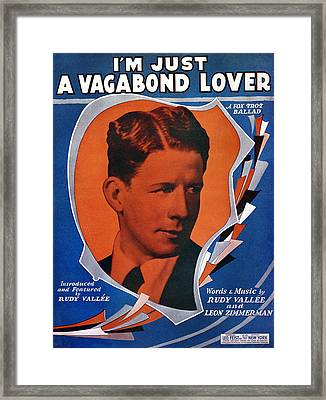 Song Sheet: Vagabond, 1929 Framed Print by Granger