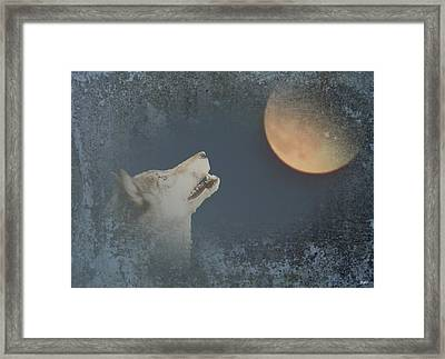 Song To The Moon Framed Print by Debra     Vatalaro