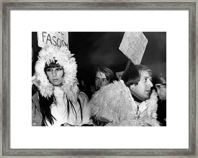 Sonny & Cher At Sunset Strip Framed Print by Everett