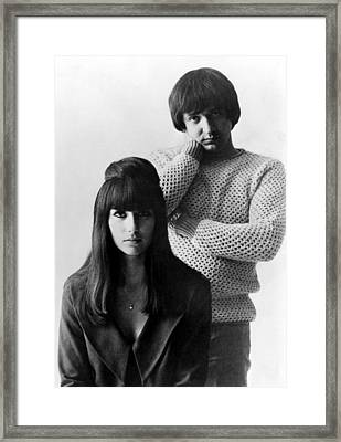 Sonny & Cher, Sonny Right, Cher Left Framed Print by Everett