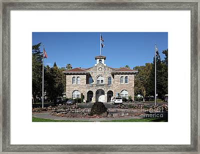 Sonoma City Hall - Downtown Sonoma California - 5d19260 Framed Print by Wingsdomain Art and Photography