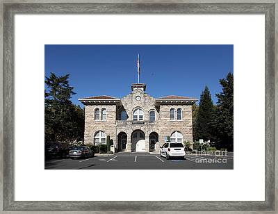 Sonoma City Hall - Downtown Sonoma California - 5d19265 Framed Print by Wingsdomain Art and Photography