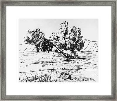 Sonoma Mountain Framed Print