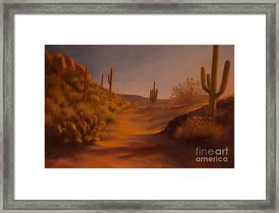 Sonoran Light Framed Print by Ruth Ann Sturgill