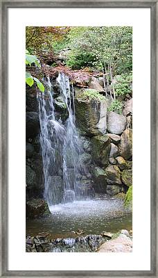 Soothing Waterfall Framed Print by Bruce Bley