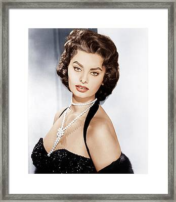 Sophia Loren, Ca. 1957 Framed Print by Everett