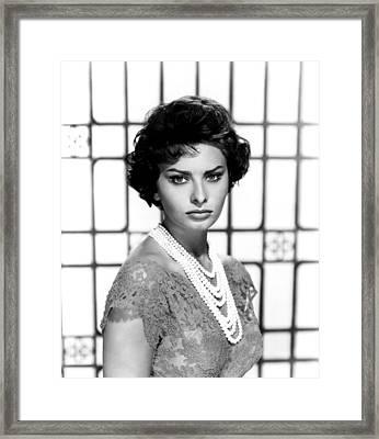 Sophia Loren, Circa 1950s Framed Print by Everett