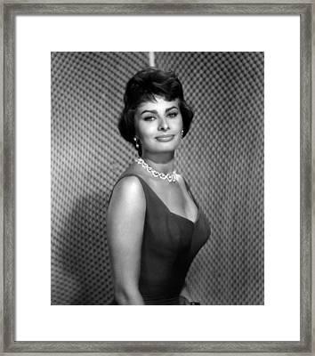 Sophia Loren Framed Print by Everett