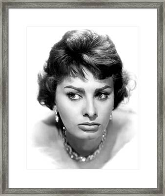 Sophia Loren, Portrait From 1959 Framed Print