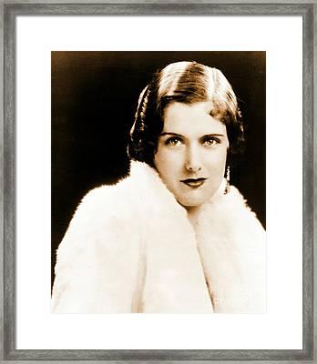 Soprano Carol Deis 1926 Framed Print