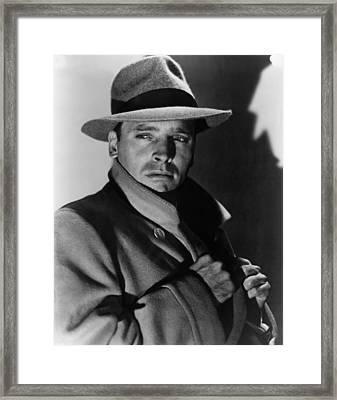 Sorry, Wrong Number, Burt Lancaster Framed Print by Everett