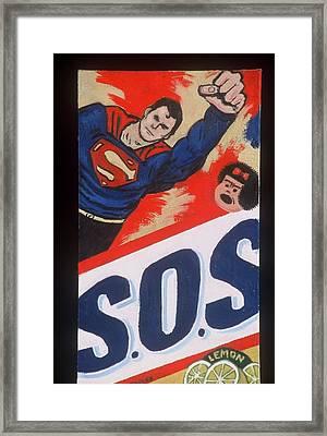 S.o.s. Framed Print