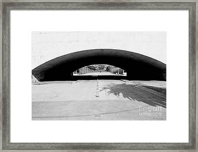 Under The Bridge -- Sotto Il Ponte Framed Print by Mariana Costa Weldon