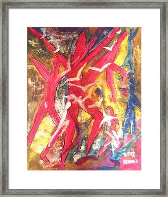 Soul Dance 1 .. Flight Framed Print by Rooma Mehra