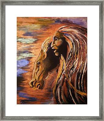 Soul Of Wild Horse Framed Print