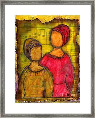 Soul Sistahs Sing Of Friendship Framed Print by Angela L Walker