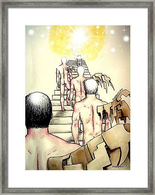 Souls Who Populate The Path Of Light Framed Print by Paulo Zerbato