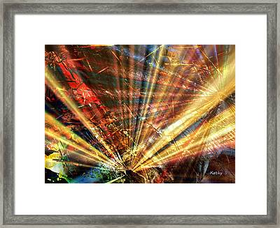Framed Print featuring the painting Sound Of Light by Kathy Sheeran