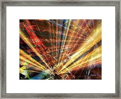Sound Of Light Framed Print
