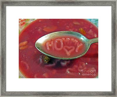 Soup For Mommy Framed Print by Ausra Huntington nee Paulauskaite