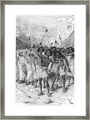 South Africa: Warriors Framed Print