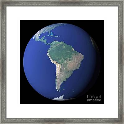 South America Framed Print by Stocktrek Images