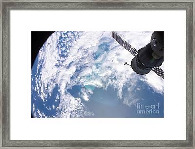 South Atlantic Plankton Bloom Framed Print by Stocktrek Images