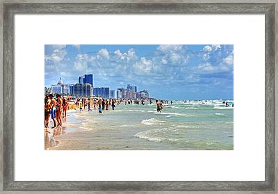 South Beach Framed Print by Dieter  Lesche