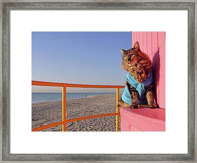 South Beach Framed Print by Joann Biondi