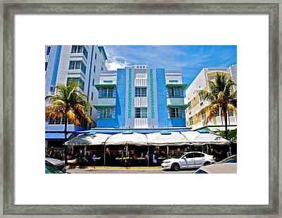 South Beach The Blue Section Framed Print by Eric Tressler