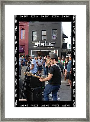 South By Southwest In Austin Framed Print